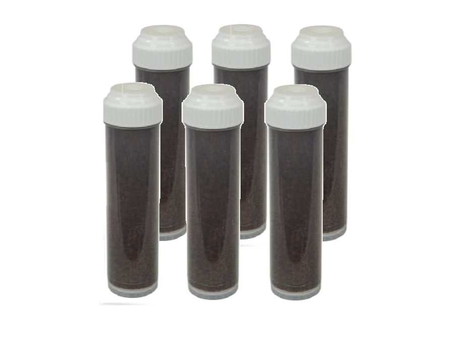 6 Pack  RODI Farbe Changing DI Resin Refillable Clear Cartridge RESINTECH MBD-30