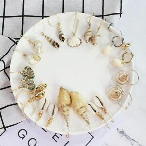 Women-Earrings-Aolly-Pearl-Shell-Eardrop-Dangle-Earring-Geometric-Hoop-Jewelry
