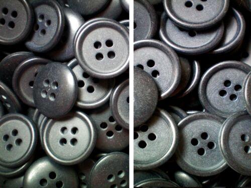 18mm 20mm 28L 32L Dark Grey Shirt Sewing Kniting 4 Hole Buttons W128-W129 X