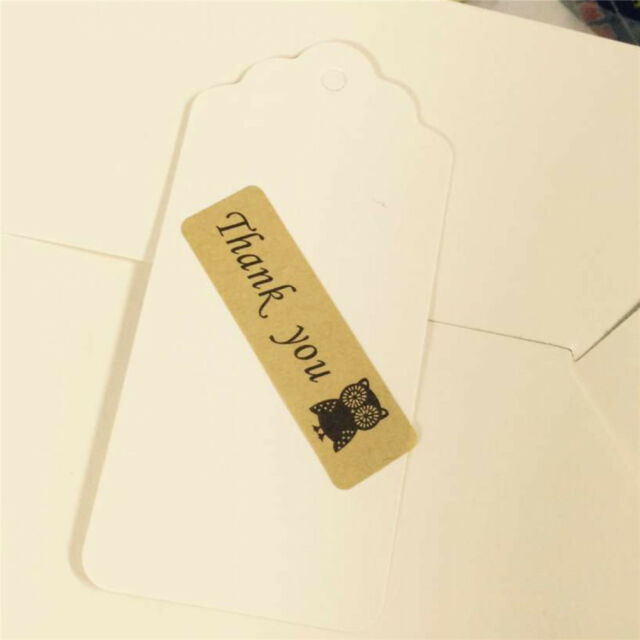 120pcs/set Thank you series Owl Kraft gift seal Sticker for Handmade Products M3