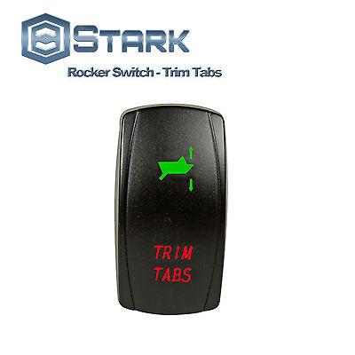 GREEN Laser Etch LED Rocker Switch 5 PIN Dual Light 20A 12V ON OFF BEAST MODE