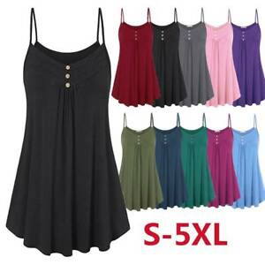 18d6695daba8 Image is loading Swing-Womens-Tank-Tops-Plus-Size-Loose-Sleeveless-