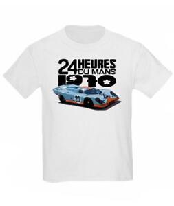 Vintage Clásico Ford GT40 Le Mans Ganador Coche Carreras Culto Camiseta Niños