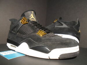 5c57680423f7c3 Nike Air Jordan IV 4 Retro ROYALTY OG BLACK GOLD WHITE CEMENT 308497 ...