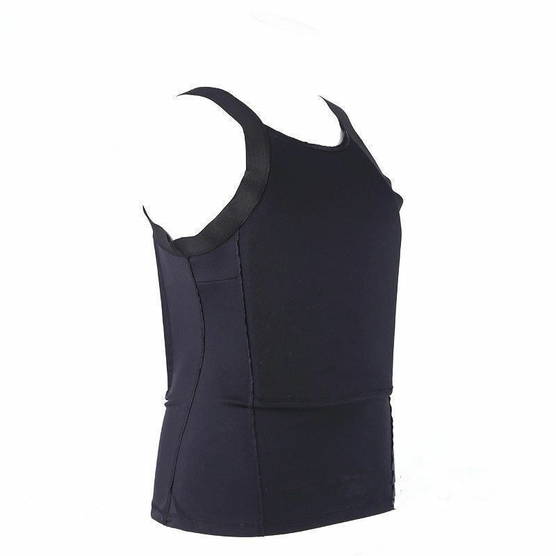 Bulletproof T-shirt Vest Ultra Thin made with Kevlar Body Armor NIJ IIIA SS