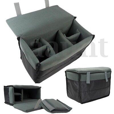 Black Insert Padded Camera Bag Inner Divider Partition Protect Case For DSLR