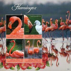 Agressif Young Island Grenadines St Vincent 2019 Neuf Sans Charnière Flamants Roses 4 V M/s Oiseaux Timbres-afficher Le Titre D'origine