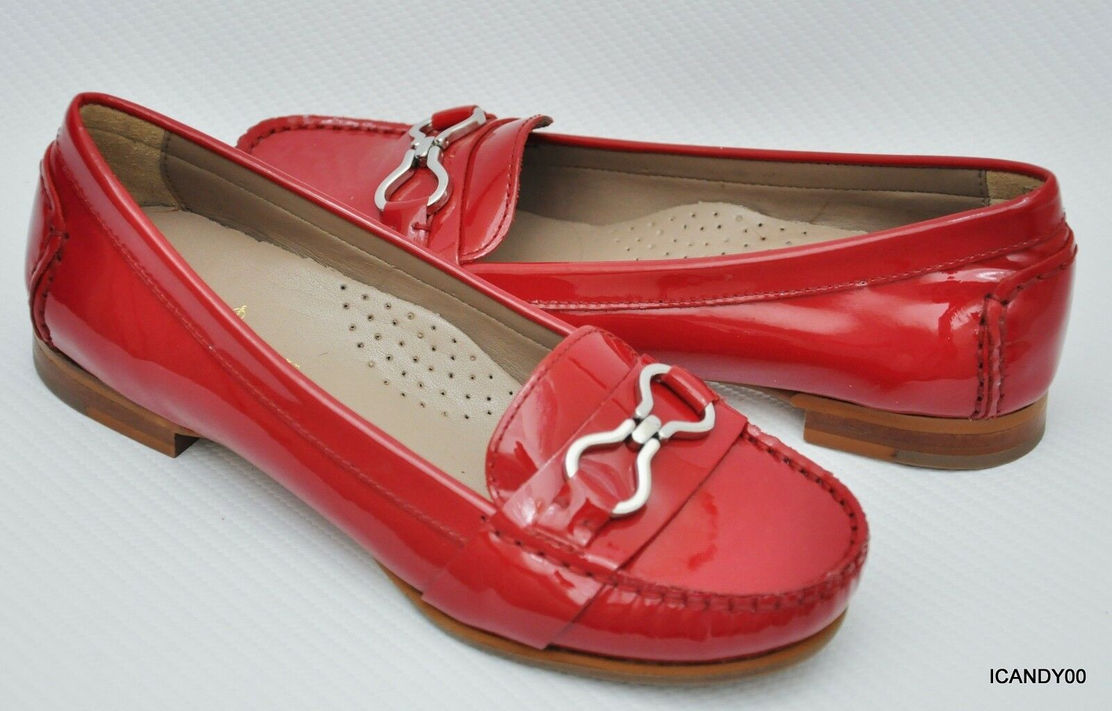 New Cole Haan Haan Haan Air MARLEE Infinity Patent Loafer Moc Slip-On shoes Flat Red 5 01c66c