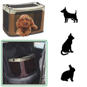 Soft-Fold-Away-Dog-Puppy-Pet-Travel-Crate-Cat-Rabbit-Carrier-Car-Transport-Cage