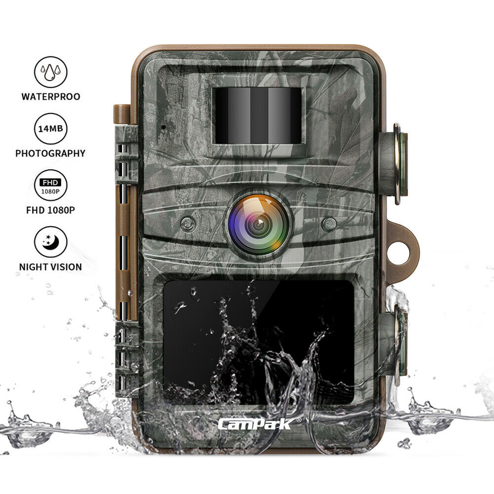 Campark Trail Game Camera 14MP HD 1080P Hunting  Cams 940nm No Glow Night Vision  for cheap