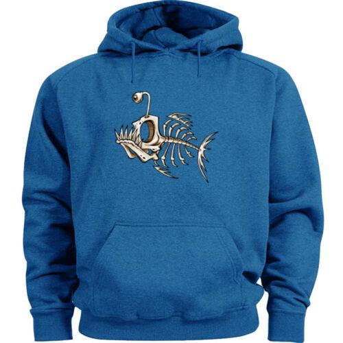 Fish bones sweatshirt hoodie funny hoodie fishing skeleton fish tattoo style
