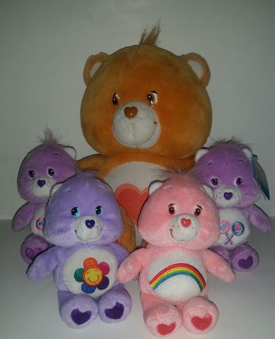 Care Bear lot 2002 Tenderheart talking light up 14  plush & 4 talking 7  plush