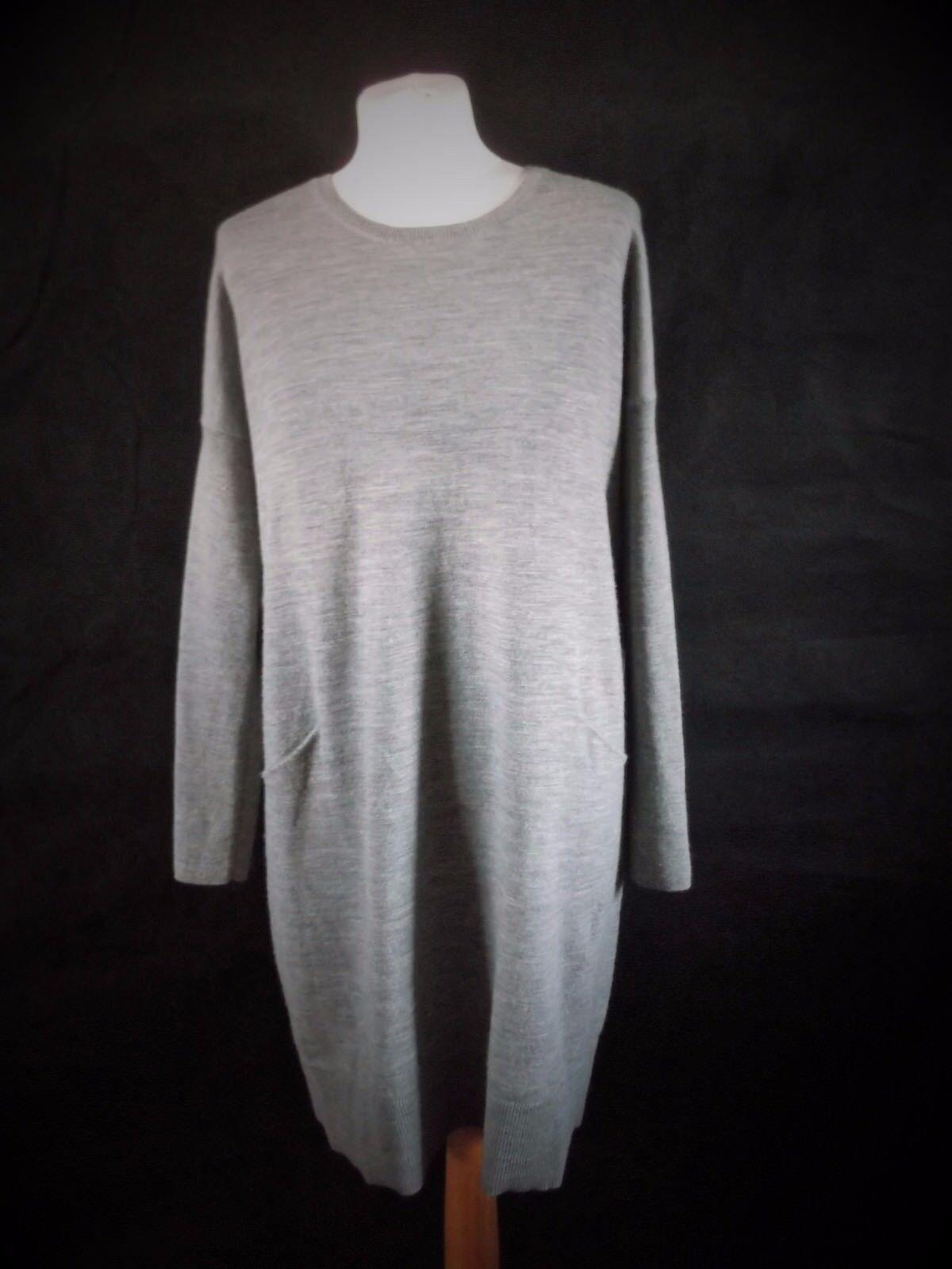 HOBBS jumper dress dress dress in finest wool grey - immaculate oversized slouchy 10 5ca9cc