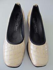 Womens Josef Seibel yellow beige patent leather croc loafers slip ons sz 39 8.5