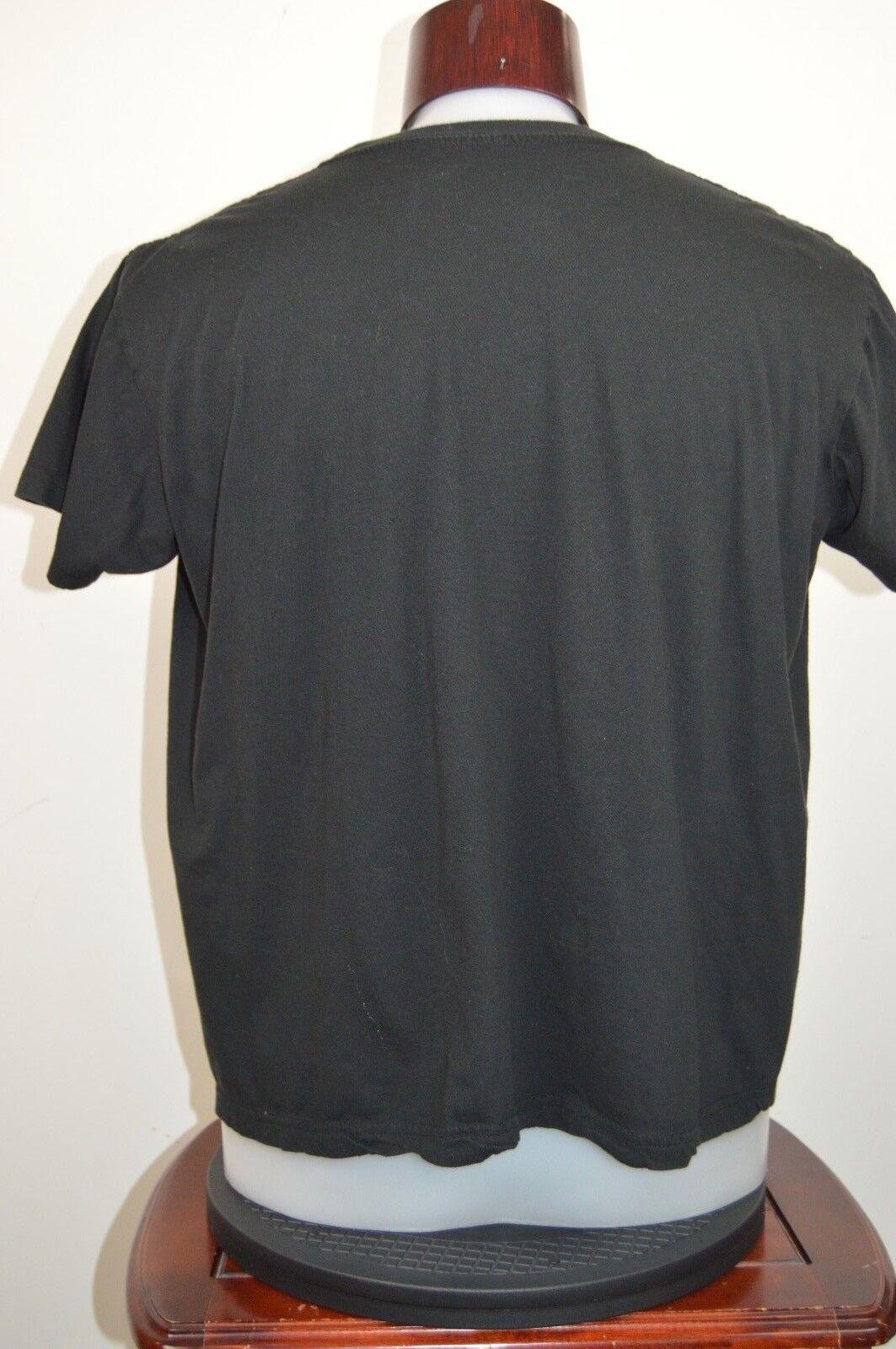 ACDC Mens XL Black Graphic T Shirt Liquid Blue Short Sl