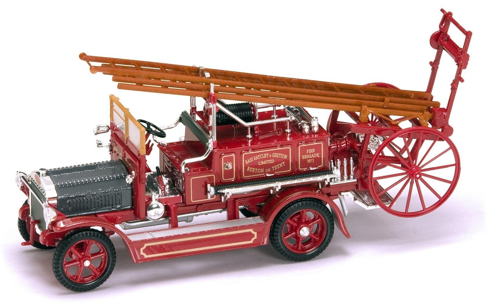 LUCKY DIE CAST 1921 Dennis N Type Autopompa DIE CAST modelloLINO DA COLLEZIONE Rosso