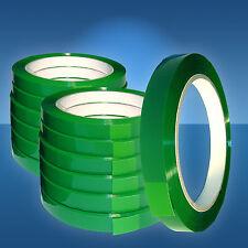 12 Rollen PP-Klebeband, 12 mm,grün f. Beutelschliesser, Klebefilm,Selbsklebeband
