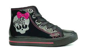 REDUZIERT Schuhe Monster High Sneakers Neu Gr. 28-35 schwarz lack