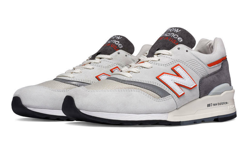 New Balance M997CSEA -MADE IN USA- 997  Explore Explore Explore by Sea  Kith (grigio   arancia) dc61d7