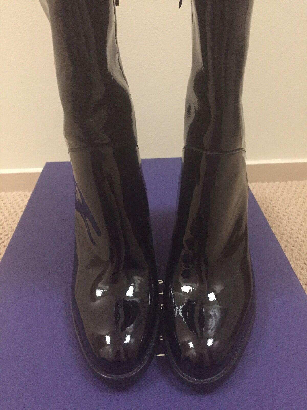 Auth Stuart Weitzman Black Patent 'YUM Boot US M9.0
