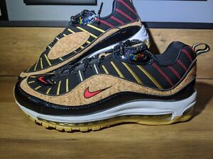 Details about Nike Air Max 98 Black Red Orbit Photo Blue Cork New Year  Men's SIZE 11 NEW
