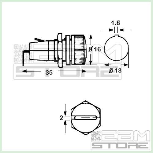 Portafusibile da pannello per fusibili 5x20 EZ01 ART