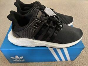 Image is loading Adidas-EQT-Support-93-17-Milled-Leather-Black- 2ab4d07122