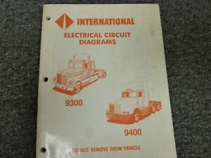 1988-1989 international 9300 truck electrical circuit wiring ... 1989 international wiring diagram  ebay