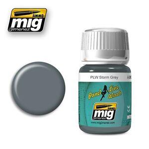 Ammo-of-Mig-A-MIG-1609-Panel-Line-Wash-PLW-Storm-Grey-Wash-Enamel-35ml