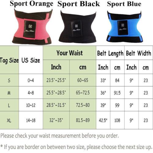 Xtreme Belt Hot Power Sweat Slimmer Body Shaper Waist Trainer Fever Sport Fajas