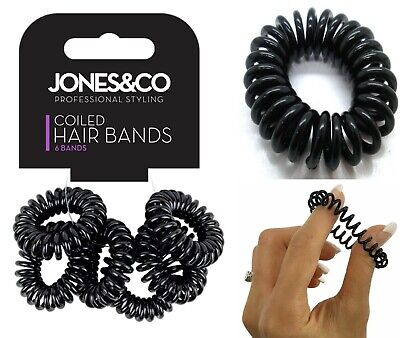 Spiral Coil No Tangle Telephone Cord Wire Plastic Elastics Hair Band Ponytail