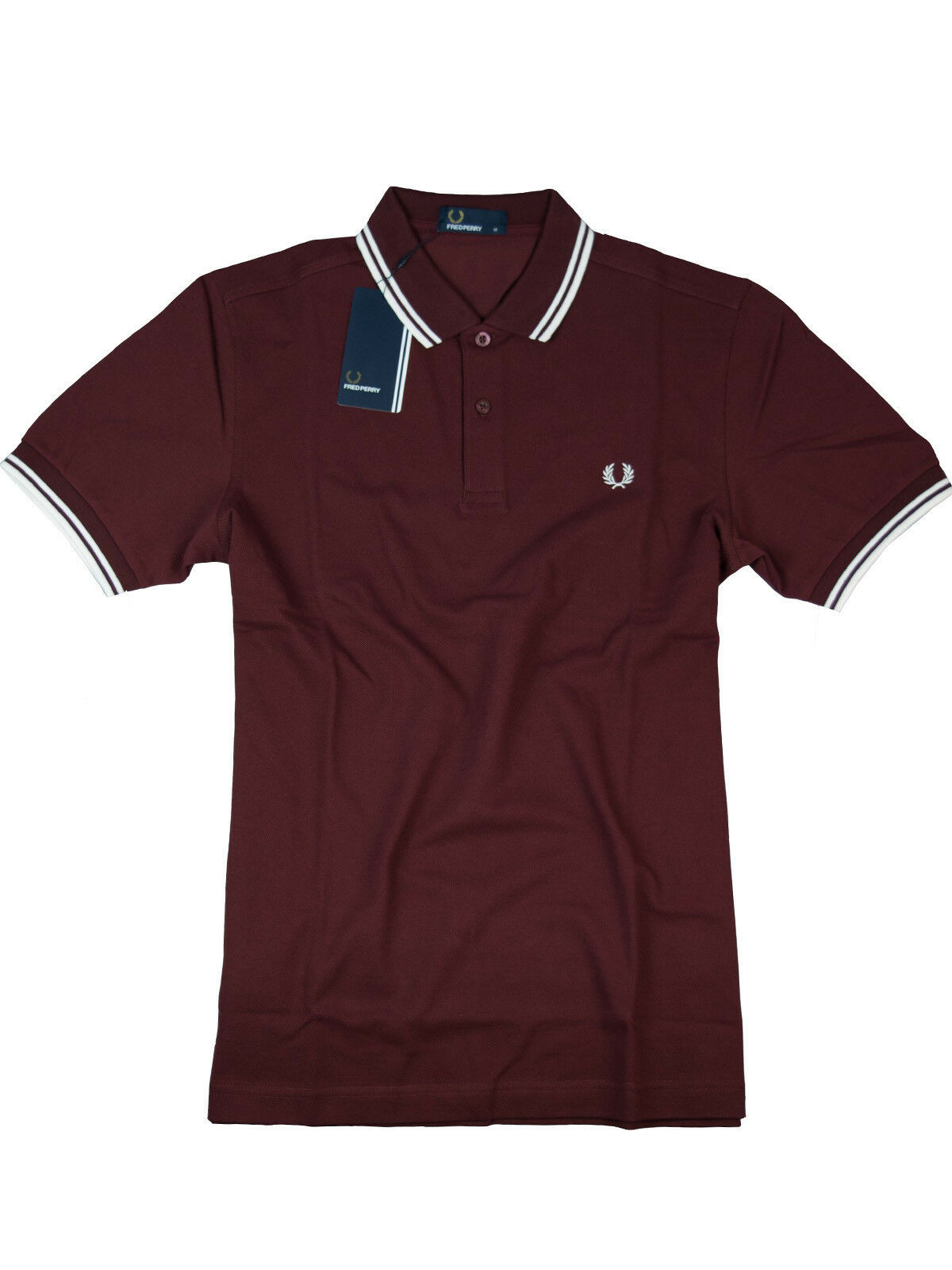 Frot Perry Polo - Shirt M3600 B72 Port   Dunkelrot   Weiß  7053