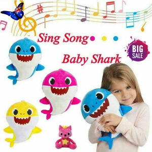 Baby-kids-Shark-Plush-Light-Singing-Toys-Music-Animal-Plush-Singing-Soft-Dolls-N