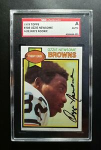 1979 Topps Ozzie Newsome SGC Cert Signed Autograph Browns Rookie Card HOF NICE