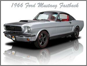 1966 Ford Mustang Fastback Metal Sign Fully Restored Ebay