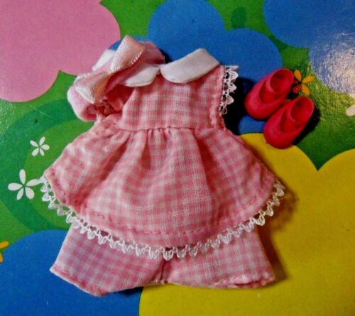 Kelly Chelsea Doll Clothes *ADORABLE Pink Checkered Dress Shorts Hairband Shoes*