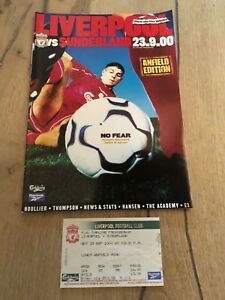 LIVERPOOL-V-SUNDERLAND-2000-01-PLUS-TICKET