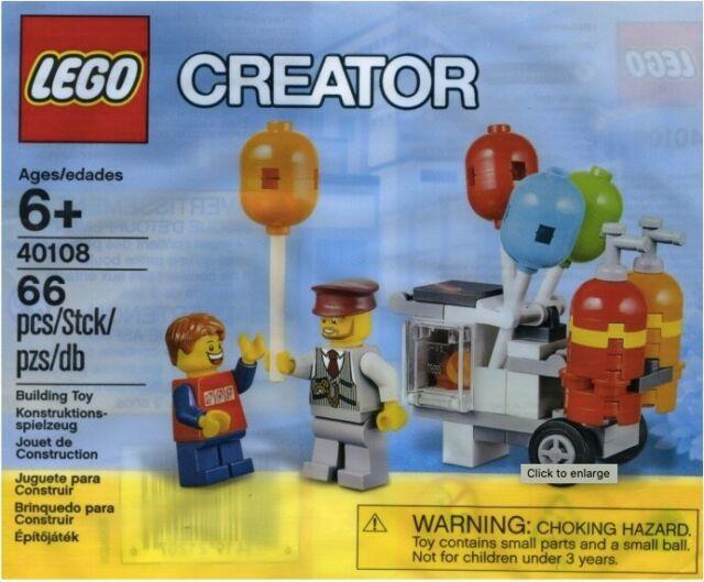 LEGO Creator 6+ (40108) Balloon CartMini Promo Set Polybag Retired New