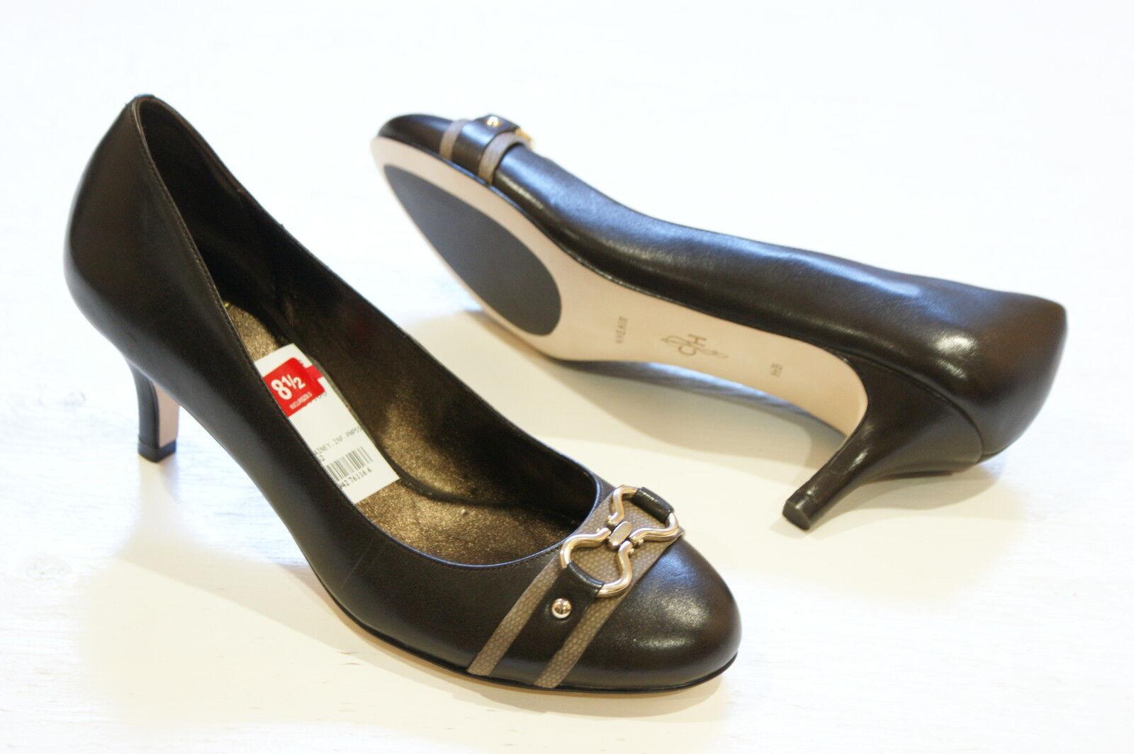 Cole Haan AIR LAINEY Chocolate Leder Pump Heels Schuhes Damenschuhe 9.5 NEW IN BOX