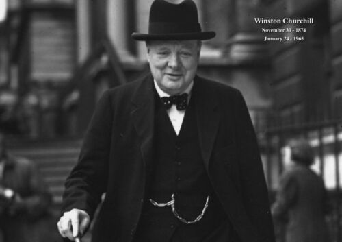 Winston Churchill 10  British Politician Army Poster Prime Minister UK Hat Suit