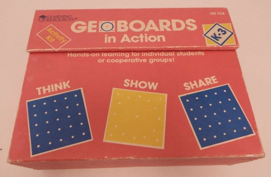 Learning Resources Geo Boards In Action Activity Kit K-3 R13909