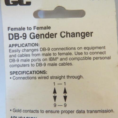 GC Electronics 45-515  DB-9 Gender Changer Female to Female Old School Adaptor