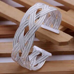 ASAMO-Damen-Armreif-925-Sterling-Silber-plattiert-Schmuck-Armband-Schmuck