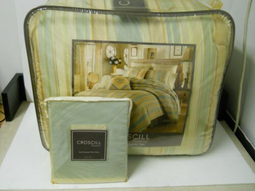 Croscill Home Bridge Hampton King Comforter Set w/ Extra European Pillow Sham
