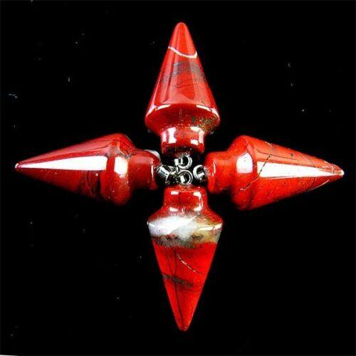 Wholesale 4Pcs 33x15mm Carved Pendulum different Materials Pendant Bead HYBC58
