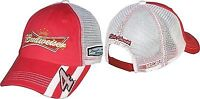 Kevin Harvick Nascar Budweiser 4 Adjustable Mesh Trucker Hat -red/white