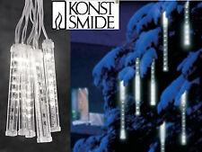 LED Lichterkette Eiszapfen Schneeeffekt Leuchtstäbe Weihnachtsbeleuchtung Außen