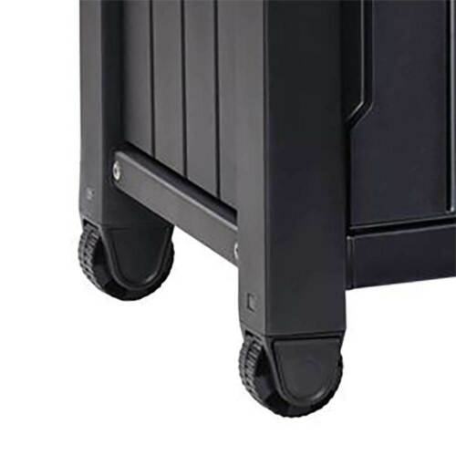 Keter Unity XL 78 Gallon Patio Storage Unit BBQ Grilling Bar Cart Furniture
