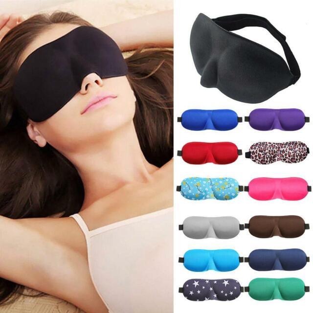 3D Eye Mask Sleep Soft Padded Shade Cover Rest Relax Sleeping Blindfold 2019