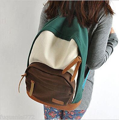 Fashion Women's Canvas Travel Satchel Shoulder Bag Backpack School Rucksack